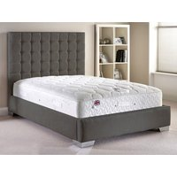 Aspire Furniture Copella 4FT Small Double Fabric Bedframe,Chenille Fabric