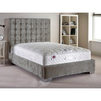 Aspire Furniture Copella Fabric Bedframe,Velvet Fabric