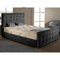 Aspire Furniture Delaware 4FT 6 Double Fabric Bedframe,Chenille Fabric