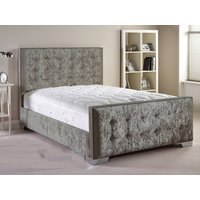 Aspire Furniture Delaware 4FT 6 Double Fabric Bedframe,Velvet Fabric