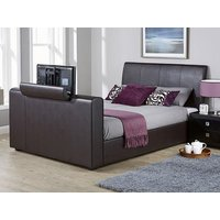 Milan Bed Company Brooklyn TV Bed,Faux Leather