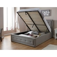 Milan bed company hollywood 5ft kingsize ottoman bed,grey