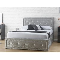 Milan bed company hollywood ottoman bed,crushed velvet