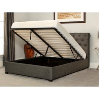 Emporia beds balmoral 5ft kingsize ottoman bed,grey