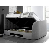 Kaydian design barnard 6ft superking ottoman tv bed,light grey