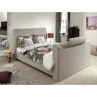Milan Bed Company Brooklyn 5FT Kingsize TV Bed,Light Grey