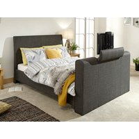 Milan Bed Company Brooklyn 5FT Kingsize TV Bed,Charcoal