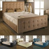 Aspire Furniture Delaware 4FT Small Double Fabric Bedframe,Chenille Fabric