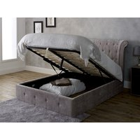 Limelight beds epsilon 6ft superking ottoman bed,mink