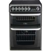 Hotpoint CH60EKK 60cm Electric Double Cooker with Ceramic Hob
