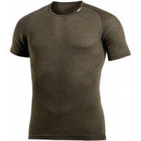 Woolpower - Lite Tee - Merino base layer size XL, brown/black/olive