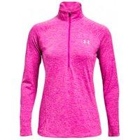 Under Armour - Women's Tech 1/2 Zip Twist - Sport shirt size M, pink
