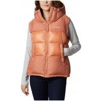 Columbia - Women's Pike Lake II Insulated Vest - Synthetic vest size XS, sand/orange/black