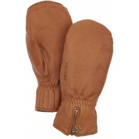 Hestra - Leather Swisswool Classic Mitt - Gloves size 8, brown