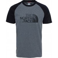 The North Face - S/S Raglan Easy Tee - T-shirt size M, grey/black