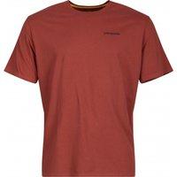 Patagonia - P-6 Logo Responsibili-Tee - T-shirt size S, red