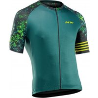 Northwave - Blade Jersey Short Sleeve - Cycling jersey size 3XL, turquoise/black
