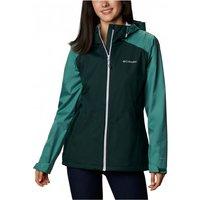 Columbia - Women's Inner Limits II Jacket - Waterproof jacket size S - Regular, black/turquoise