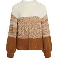 Klitmoller Collective - Women's Viva Knit - Wool jumper size L, brown/sand/white