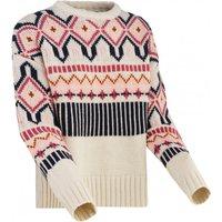 Kari Traa - Women's Molster Knit - Wool jumper size M, white/sand/grey