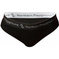 Northern Playground - Women's Pantie Organic Wool and Silk Merinounterwäsche Gr XS schwarz/grau