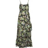 Volcom - Women's Thats My Type Maxi Dress - Dress size L, grey/sand/black