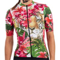 Ale - Women's Tiger Jersey - Cycling jersey size S, pink/green