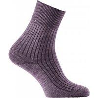 Hirsch Sports - Marin Strumpfe - Merino socks size 42-43, grey/purple/black