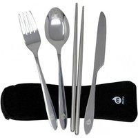 Mizu - Outdoor Cutlery Set grey/black