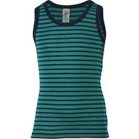 Engel - Kinder Achselhemd - Merino base layer size 176, turquoise/black