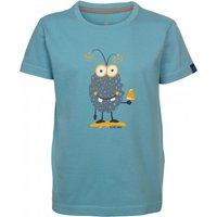 Elkline - Kid's Monster - T-shirt size 140/146, turquoise/grey