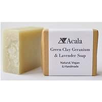 Acala Green Clay, Geranium and Lavender Soap