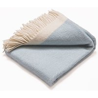 Atlantic Blankets 100% Wool Blanket - Light Blue Herringbone (130 x...