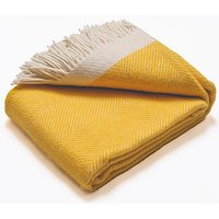 Atlantic Blankets 100% Wool Blanket - Yellow Herringbone (130 x 200cm)