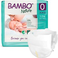 Bambo Nature Disposable Nappies - Premature - Size 0 - Pack of 24