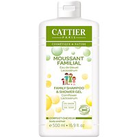 Cattier Paris 2 in 1 Family Shampoo & Shower Gel - 500 ml