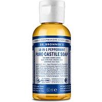 Dr. Bronner's Peppermint Castile Liquid Soap - 60ml