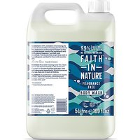 Faith in Nature Fragrance Free Body Wash - 5L
