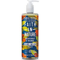 Faith in Nature Grapefruit & Orange Hand Wash, 400ml