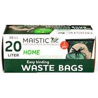 Maistic 2.Gen Compostable Waste Bag Wave Cut 20Ltr (14)