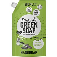 Marcels Green Soap Handsoap Tonka and Muguet Refill Stand up Bag 500ML