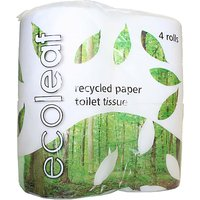 100% Recycled Toilet Paper - 4 Rolls