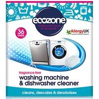 Ecozone Fragrance Free Washing Machine & Dishwasher Cleaner (36 tab...