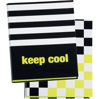 PAGNA Ringbuch Keep cool, DIN A4, Karton, 2-Ring-Mechanik