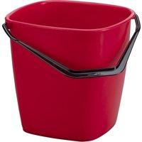 DURABLE Putzeimer BUCKET, 9,5 Liter, rechteckig, rot