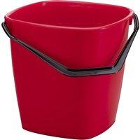 DURABLE Putzeimer BUCKET, 14 Liter, rechteckig, rot
