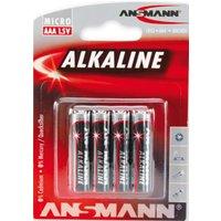 ANSMANN Alkaline Batterie , RED, , Micro AAA, 4er Blister