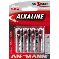 ANSMANN Alkaline Batterie , RED, , Mignon AA, 4er Blister