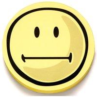 magnetoplan Bewertungssymbole Smilies neutral, rund