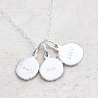 Elizabeth Sterling Silver Charm Personalised Name Necklace